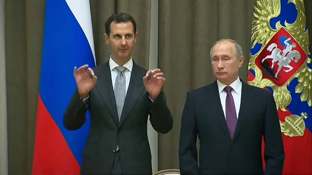 Syria's President Assad visits Russia to meet President Vladimir Putin
