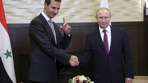 الاسد التقى بوتين في سوتشي في محادثات بشان التسوية بسوريا