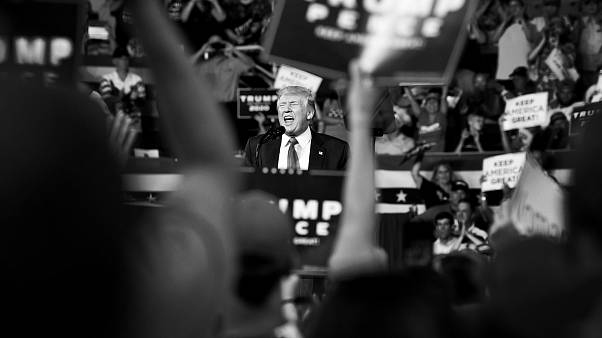 Image: President Donald Trump speaks at a campaign rally in Greenville, Nor