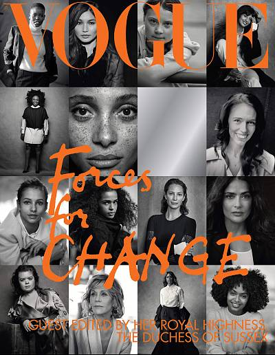 "The cover of British Vogue\'s September issue featured 15 women, who are ""forces for change."""