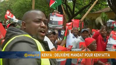Supporters cheer Uhuru Kenyatta's election validation [The Morning Call]