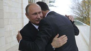 Treffen unter Freunden: Assad bei Putin