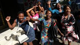 Harare erupts with joy as Robert Mugabe accepts his fate