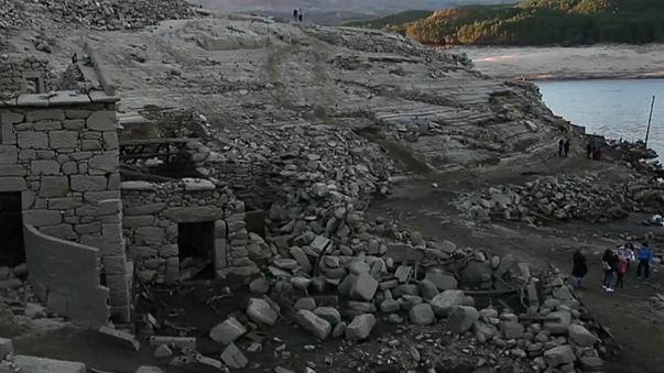 Seca ibérica revela aldeia galega afundada em 1992