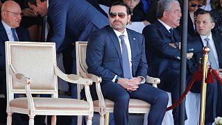 حریری پس از بازگشت به بیروت در مراسم روز ملی لبنان شرکت کرد