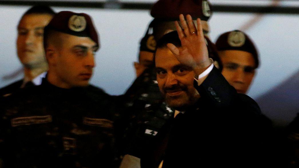 رئيس الوزراء اللبناني سعد الحريري يصل إلى بيروت