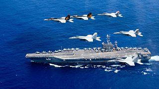 سقوط هواپیمای ارتش آمریکا در اقیانوس آرام