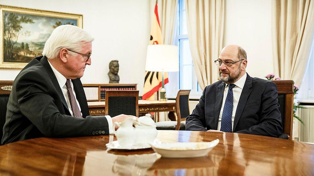 Regierungskrise in Deutschland: Steinmeier spricht mit Schulz