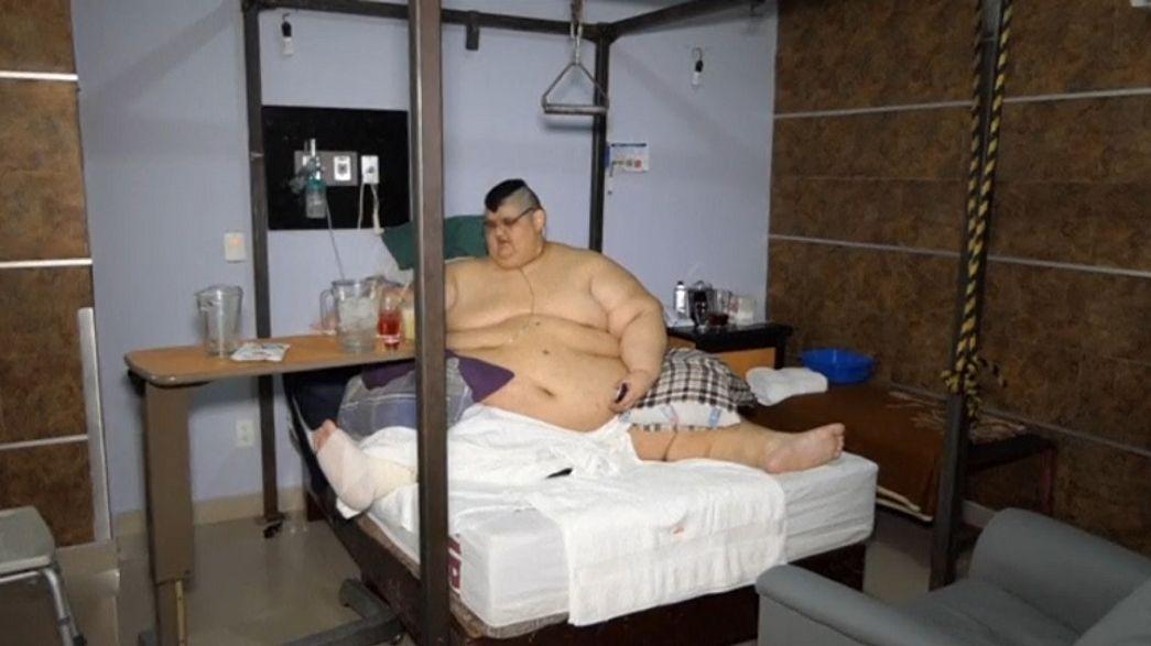 World's 'heaviest man' has surgery to halve his weight