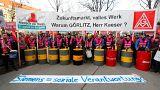 Сотрудники Siemens протестуют
