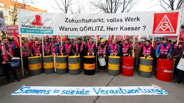 Weitere Proteste gegen Stellenabbau bei Siemens
