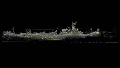 A 3D reconstruction of the USS Grunion, which sank in 1942.