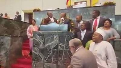 Protesting Anglophone MPs disrupt parliament in Cameroon