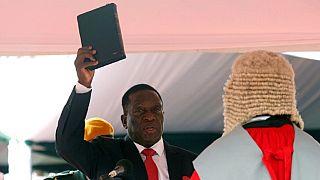 Emmerson Mnangagwa is officially sworn-in as president of Zimbabwe, replacing Robert Mugabe