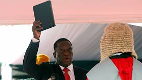 Mnangagwa sworn in as Zimbabwe's new president