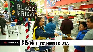 """A eufórica """"Sexta-feira negra"""" nos EUA"""
