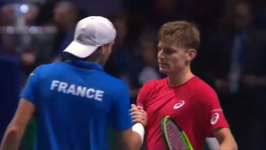 Tennis: Coppa Davis, Francia-Belgio 1-1