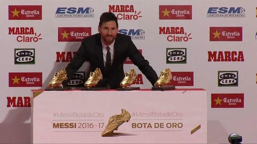 Lionel Messi recebe Bota de Ouro
