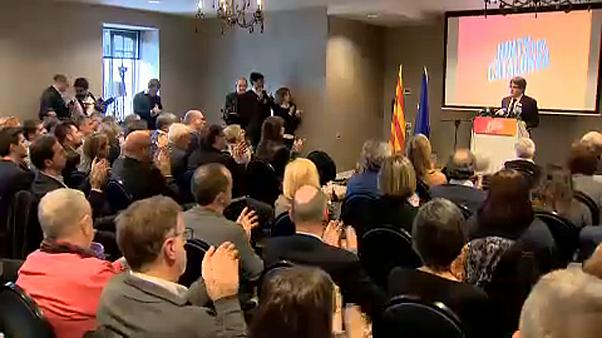 Puigdemont launches his Catalan election campaign from Belgium