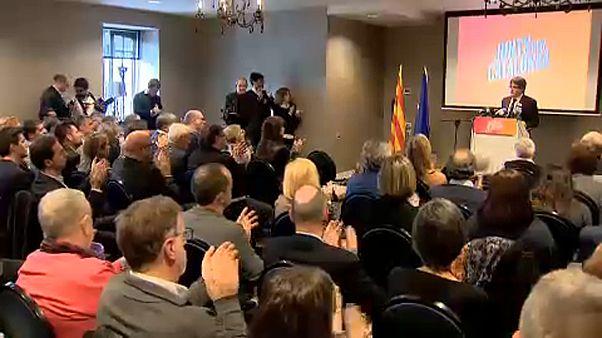 Regionali catalane: la campagna elettorale di Puigdemont inizia in Belgio