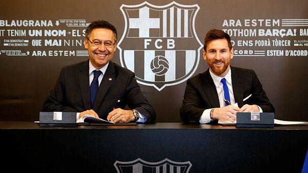 Lionel Messi prolonge avec le Barça jusqu'en 2021