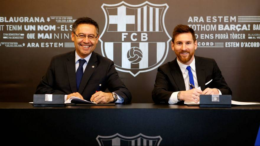 Messi signs new contract with Barca until 2021