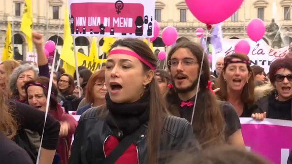 Violenza contrro le donne: la manifestazione romana