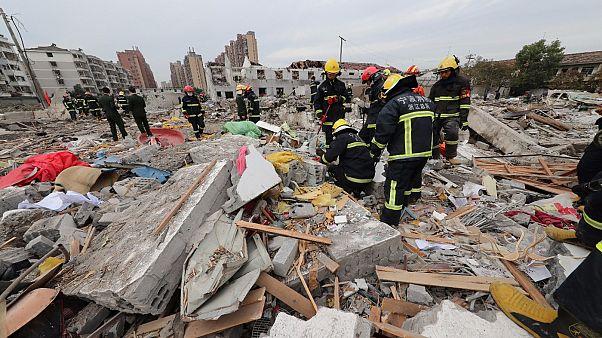 Explosion auf Fabrikgelände in Ostchina