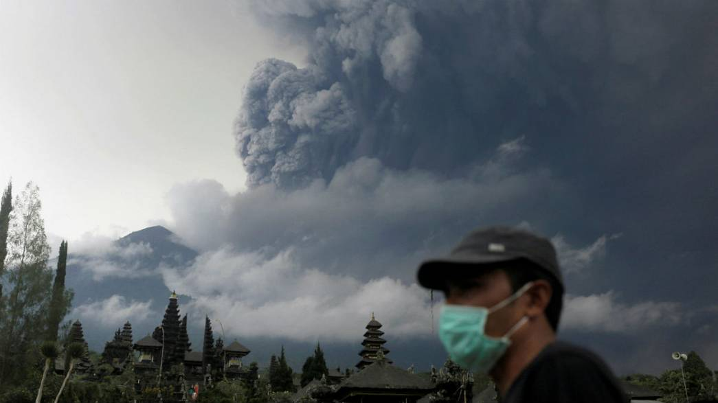 Alerta vermelho em Bali