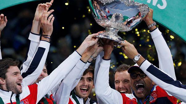 Davis Kupası finalde Belçika'yı yenen Fransa'nın oldu