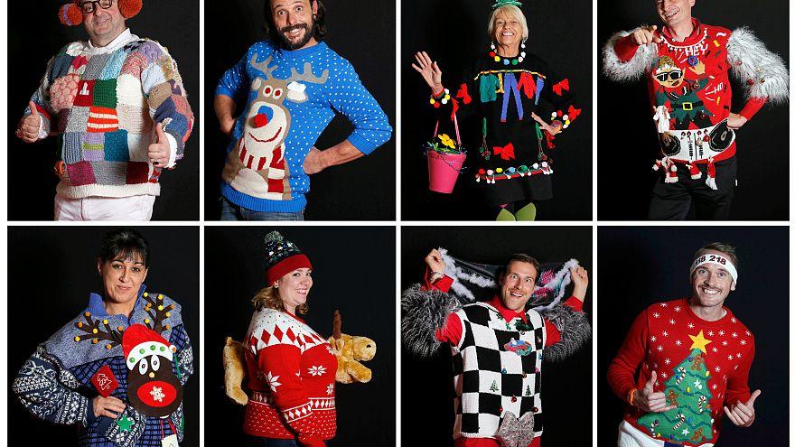 A Natale è tempo di Ugly Sweater: in Francia il campionato mondiale dei maglioni brutti - FOTO