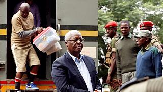 Zimbabwe's ousted finance minister arrives for bail hearing