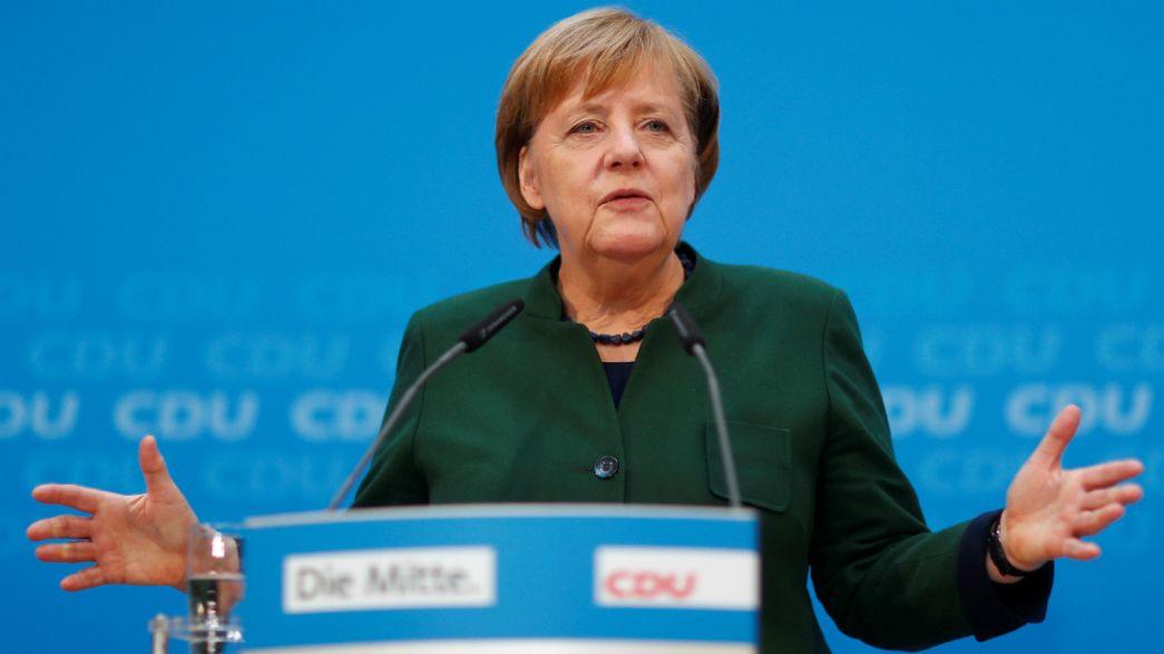 Merkel presses SPD over joining new German coalition