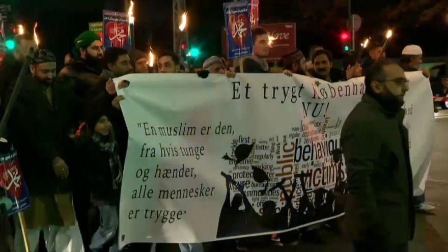 مسيرة للتنديد بالحملات العدوانية ضد المسلمين في الدنمارك