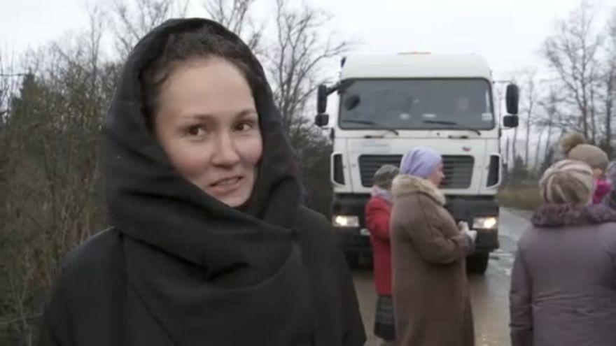 A szemétlerakás ellen tüntettek Moszkva mellett