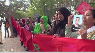 Desperate family members of detained migrants embark on demonstration in Rabat