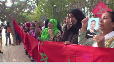 Desperate family members of detained migrants embark on demonstration in Rabat