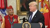 "Trump denies using ""Pocahontas"" as racial slur against democratic senator"