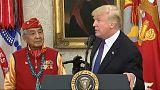 """Usa: Trump a cerimonia per nativi, """"al Congresso c'è Pocahontas"""""""