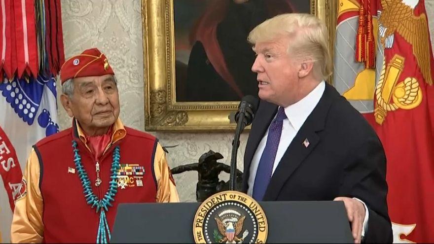 "Trump denies using ""Pocahontas"" as racial slur against democratic senator"
