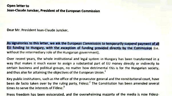 A magyar EU-támogatások leállítását kérik
