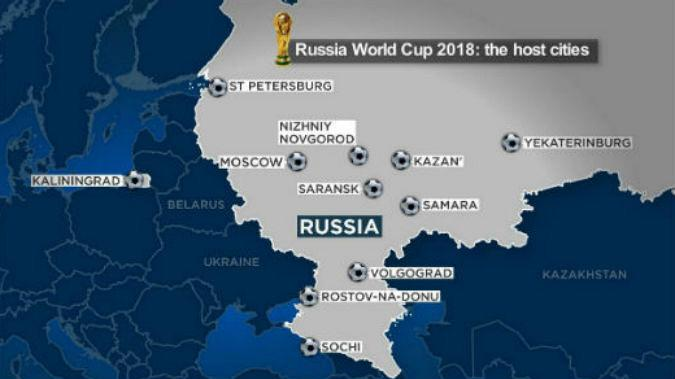 World cup 2018 whos playing who in russia next year euronews the football feast officially called the 2018 fifa world cup russia is taking place in eleven cities between june 14 and july 15 gumiabroncs Gallery