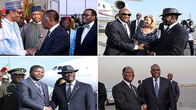 [Photos] African leaders arrive in Ivory Coast for 5th A.U.-E.U. summit