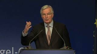 EU's Barnier cautiously optimistic on Brexit progress