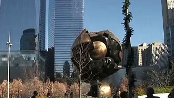 Escultura danificada no 11 de setembro regressa a casa