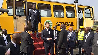 [Photos] Ouattara, Macron launch work on Abidjan metro