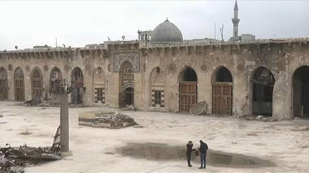 Halep'teki tarihi Ümeyye Camisi onarılacak
