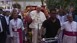 Pope meets Rohingya refugees
