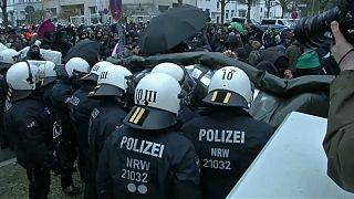 Manifestaciones en Hanóver ante el congreso de Alternativa para Alemania