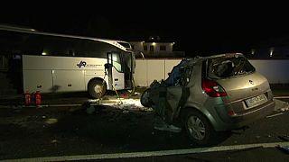 Busz ütközött autóval Dél-Burgenlandban